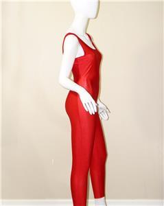 75db65b4523b vtg 70s Danskin red spandex UNITARD bodysuit wrestling dance jumpsuit M  catsuit