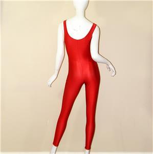 2b868cbd55d1 vtg 70s Danskin red spandex UNITARD bodysuit wrestling dance ...