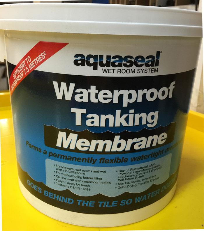 Aquaseal Wet Room Tanking Membrane Paint 5 Litre Bathroom