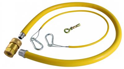 """3 x YELLOW GAS HOSE FOR KITCHEN 3//4/"""" FRYER OVEN GRILL 1 METER LONG QUICK RELEASE"""
