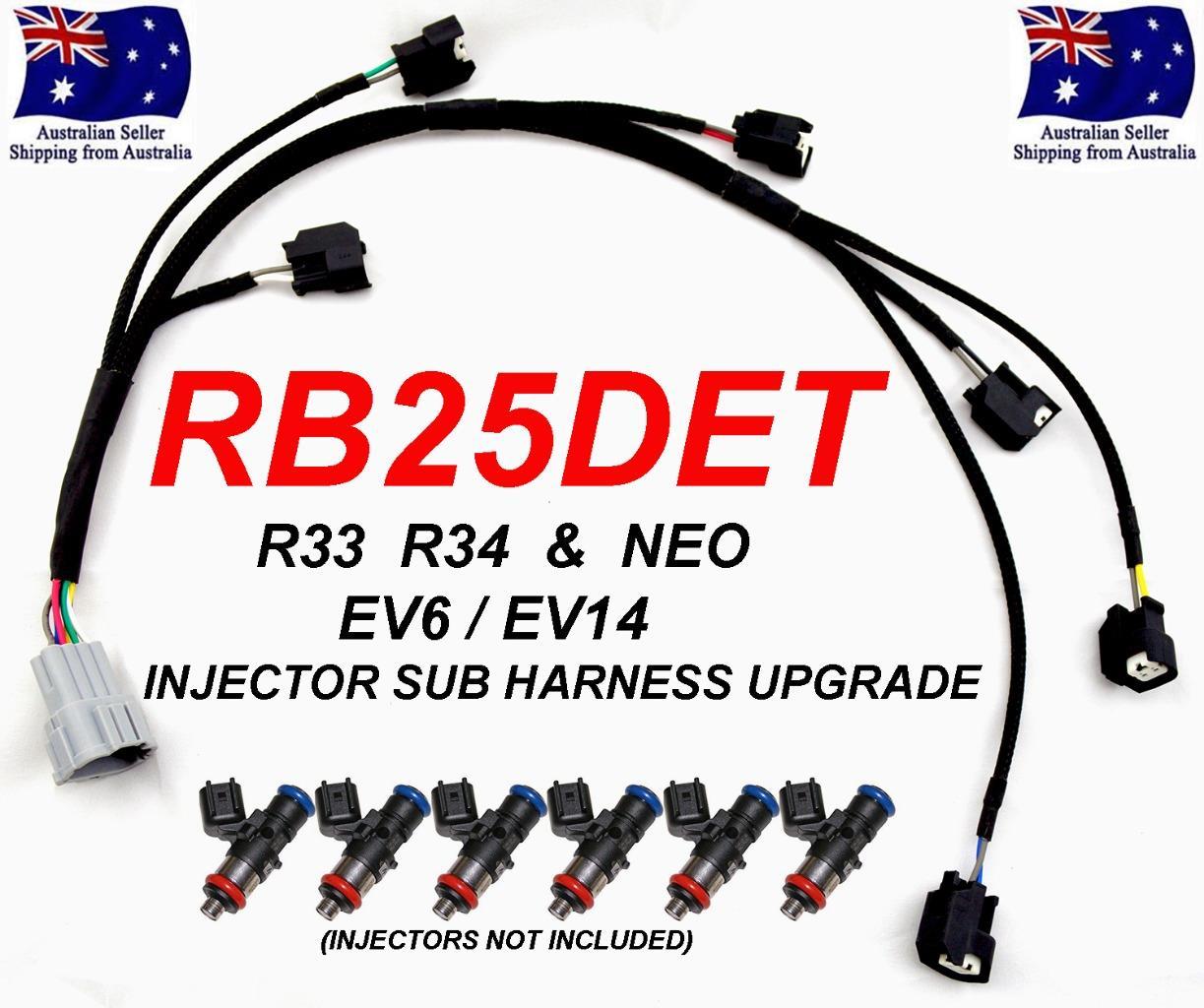 Superb Rb25Det Injector Sub Harness Loom Upgrade Skyline R33 R34 Gtt Ev6 Wiring Digital Resources Honesemecshebarightsorg