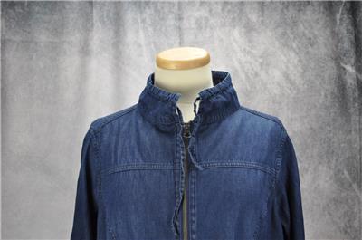 5a8352d1fb0 Torrid Womens Roll Tab Sleeve Pockets Elastic Waist Jacket Size 0 (Large)  Blue