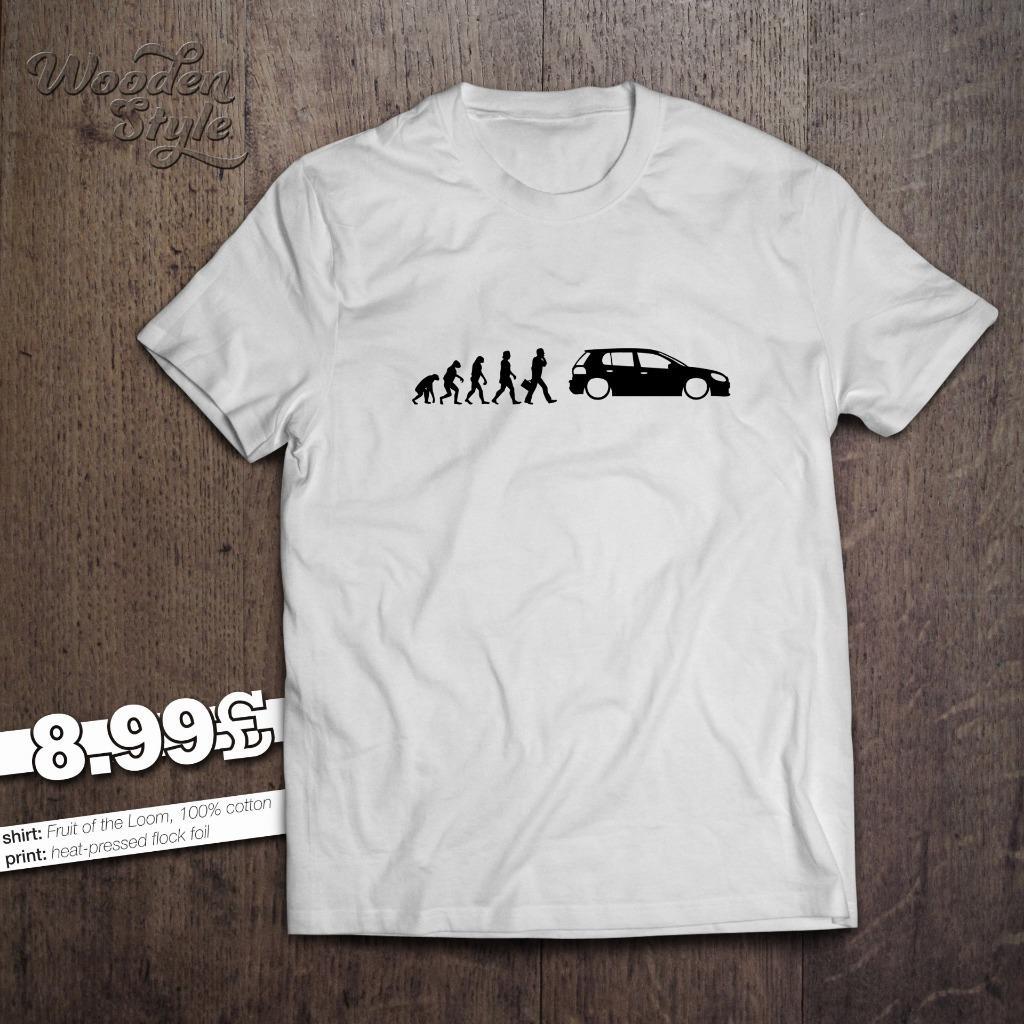 evolution of man vw golf mk6 mens t shirt 1 4 1 6 2 0 tsi. Black Bedroom Furniture Sets. Home Design Ideas