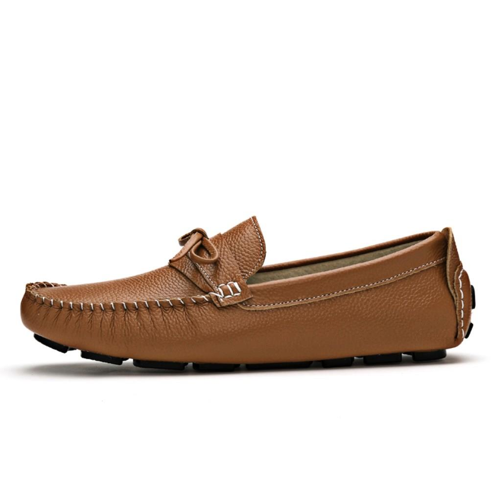 Mens Moccasins Leather Shoes
