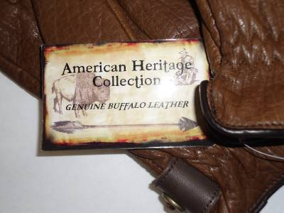 AMERICAN HERITAGE mens GENUINE BUFFALO leather gloves M  NEW NWT