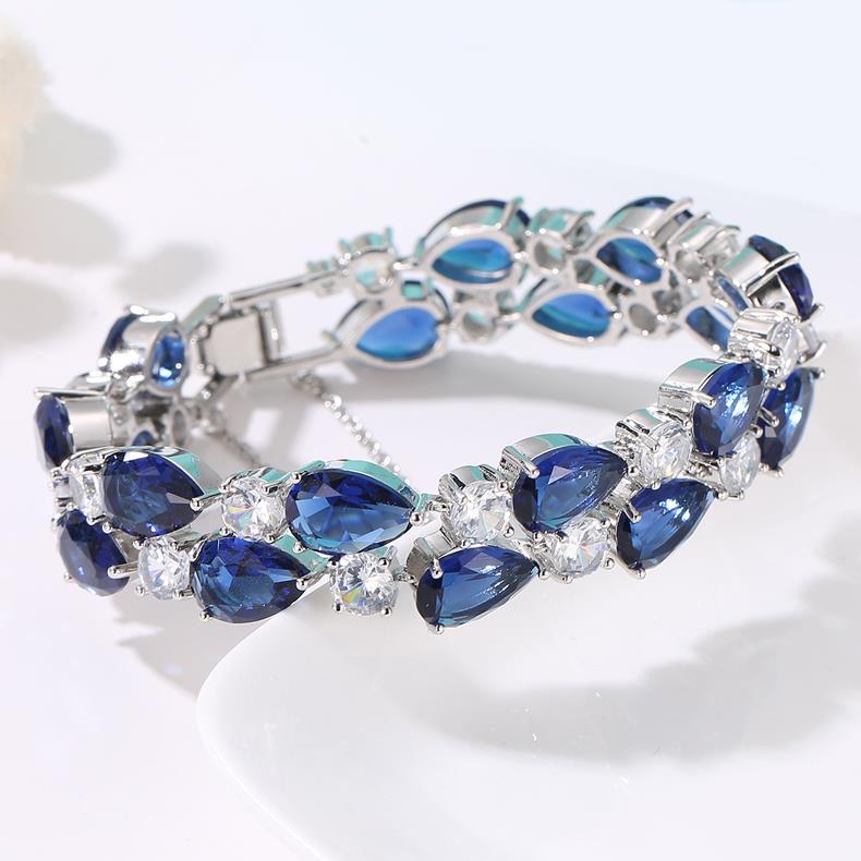 Hotsale Women Jewelry Mix Color Morganite Garnet Topaz Gemstone Silver Bracelets