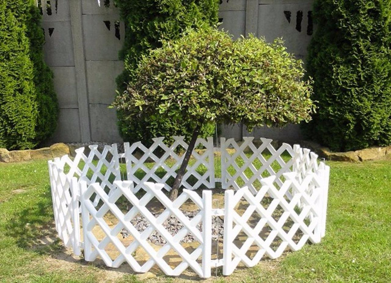 Plastic Garden Fence Panels Boarder Lawn Palisade Edge