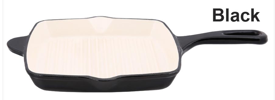 Black Cast Iron Grill Pan