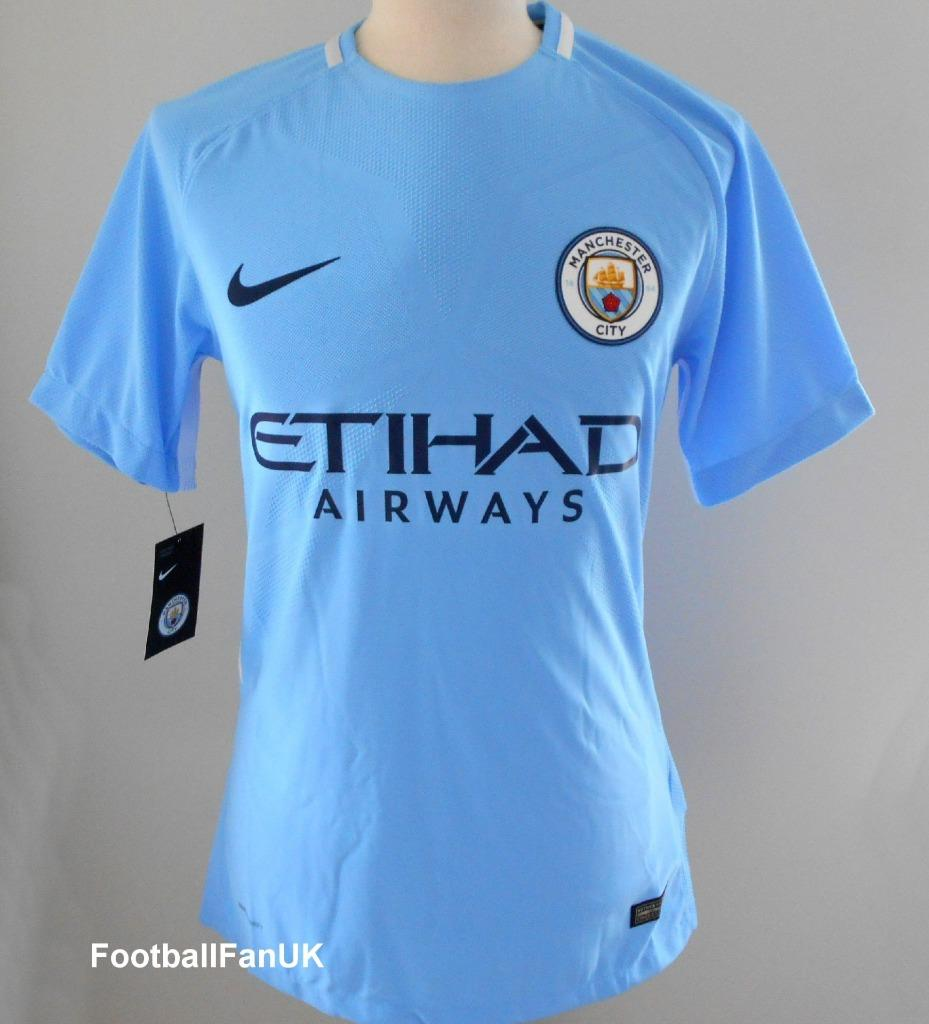 competitive price 2ba64 b7577 Details about MANCHESTER CITY Nike 2017-2018 Vapor Match Home Football  Shirt NEW Player Jersey