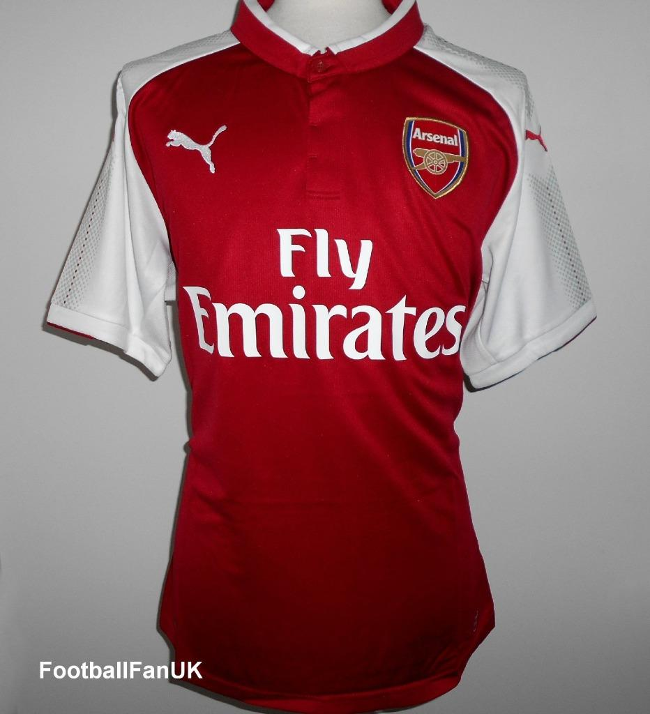 d7fddf5f1 Details about ARSENAL FC Official Puma Home Football Shirt 2017-2018 NEW  Men s Soccer Jersey
