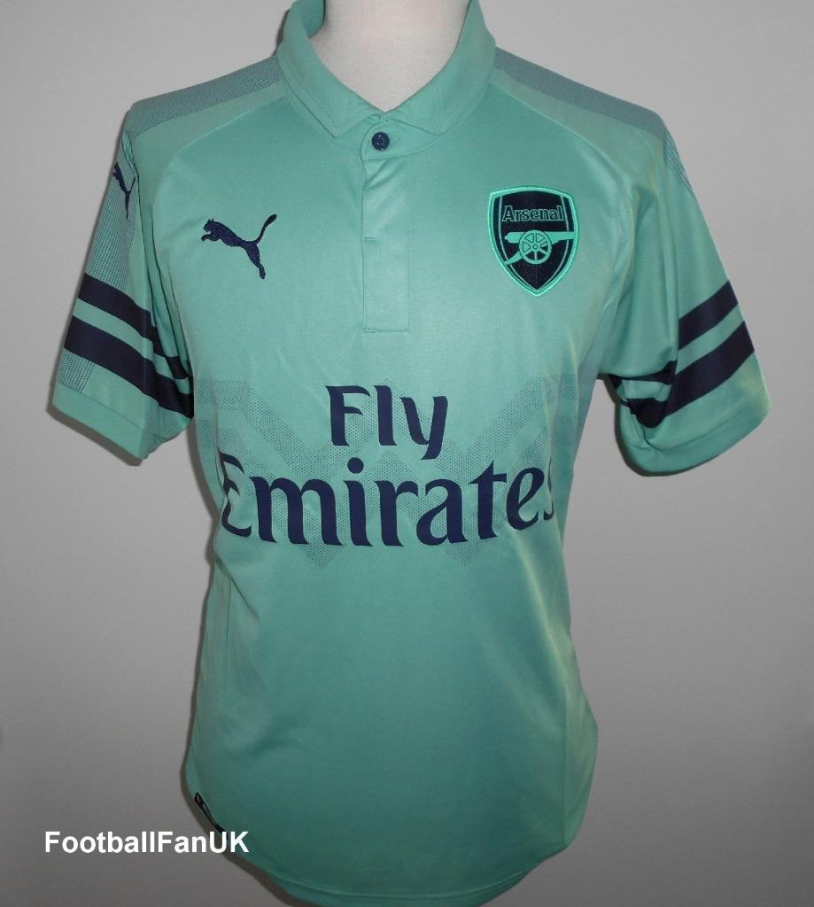 e58f01a6912 Details about ARSENAL FC Official Puma Third Football Shirt 2018-2019 NEW  Men s 3rd Jersey