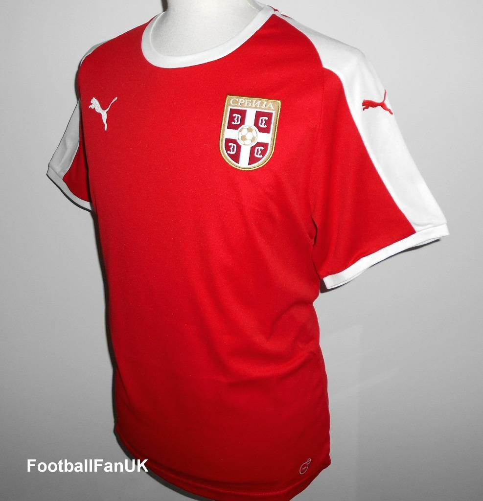 03bbe3bc9 Details about SERBIA Official Puma Home Football Shirt 2018-2019 NEW Mens  Soccer Jersey Srbija