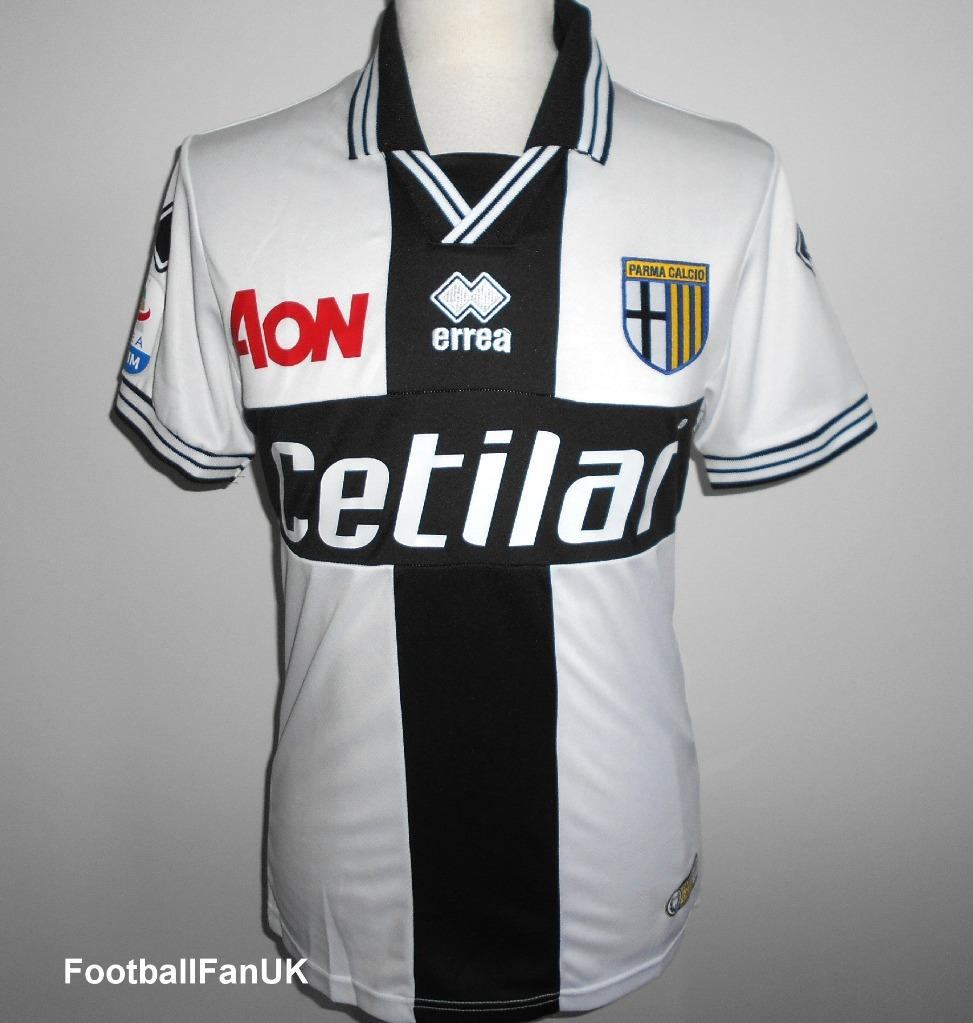 new arrival 6f076 b1b87 Details about PARMA Calcio Official Errea Mens Home Football Shirt  2018-2019 NEW Maglia Jersey