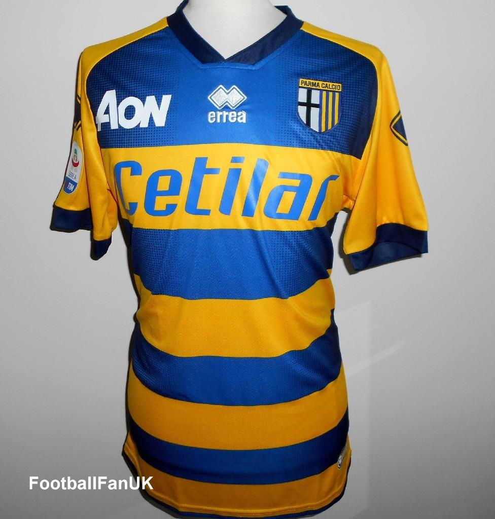 check out 284ad afa7e Details about PARMA Calcio Official Errea Mens Away Football Shirt  2018-2019 NEW Maglia Jersey