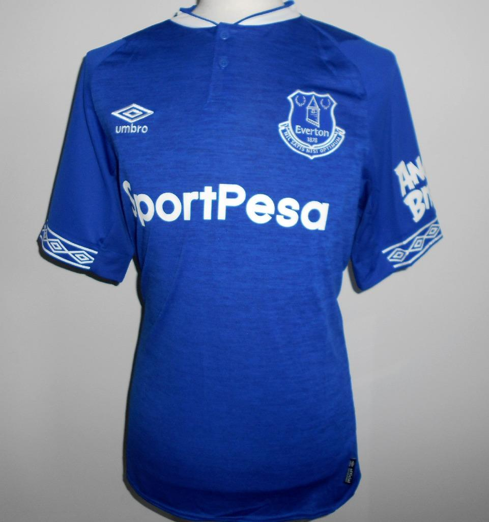 f26b0f5c0 Details about Everton FC Official Umbro Men s Home Football Shirt 2018-2019  NEW Soccer Jersey