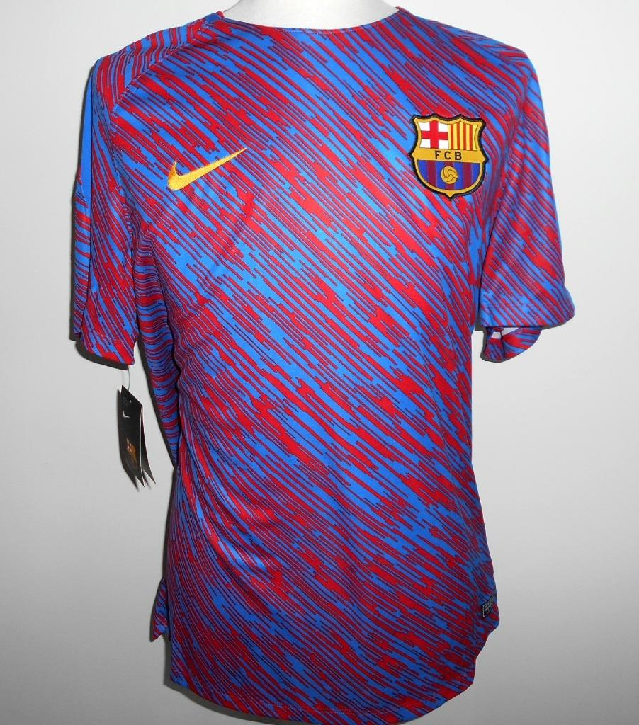 Details about FC BARCELONA Nike Pre-Match Football Shirt 2017-2018 New XL  Jersey Camiseta FCB ccd5ca05431