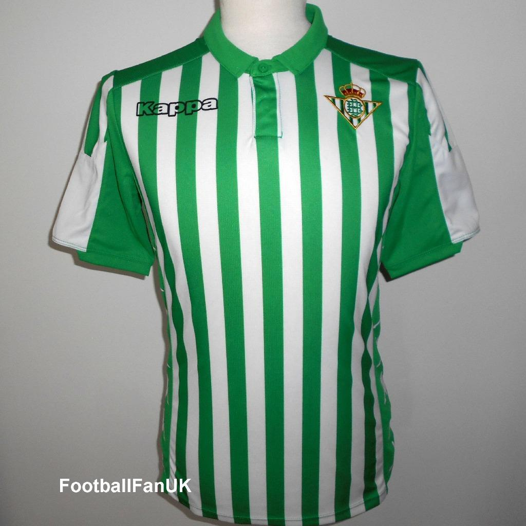 retro clásico obtener nueva Details about REAL BETIS Kappa Official Home Football Shirt 2019-2020 NEW  Camiseta Jersey Mens