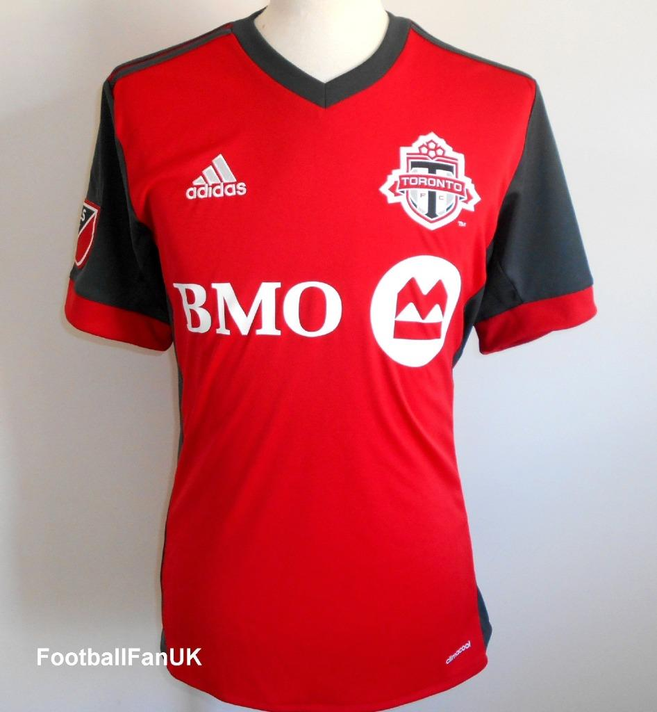 buy popular f5cfc 8b8dc Details about TORONTO FC Adidas Official Home Football Shirt 2017-2018 NEW  Soccer Jersey BNWT