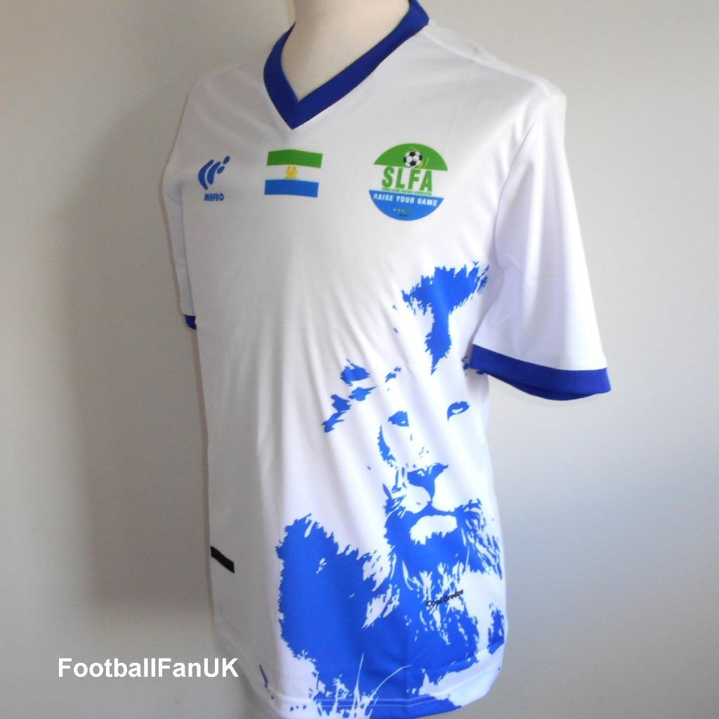 best service 34638 3adfe Details about SIERRA LEONE Official Mafro 3rd Football Shirt 2018-2019 NEW  Mens Soccer Jersey
