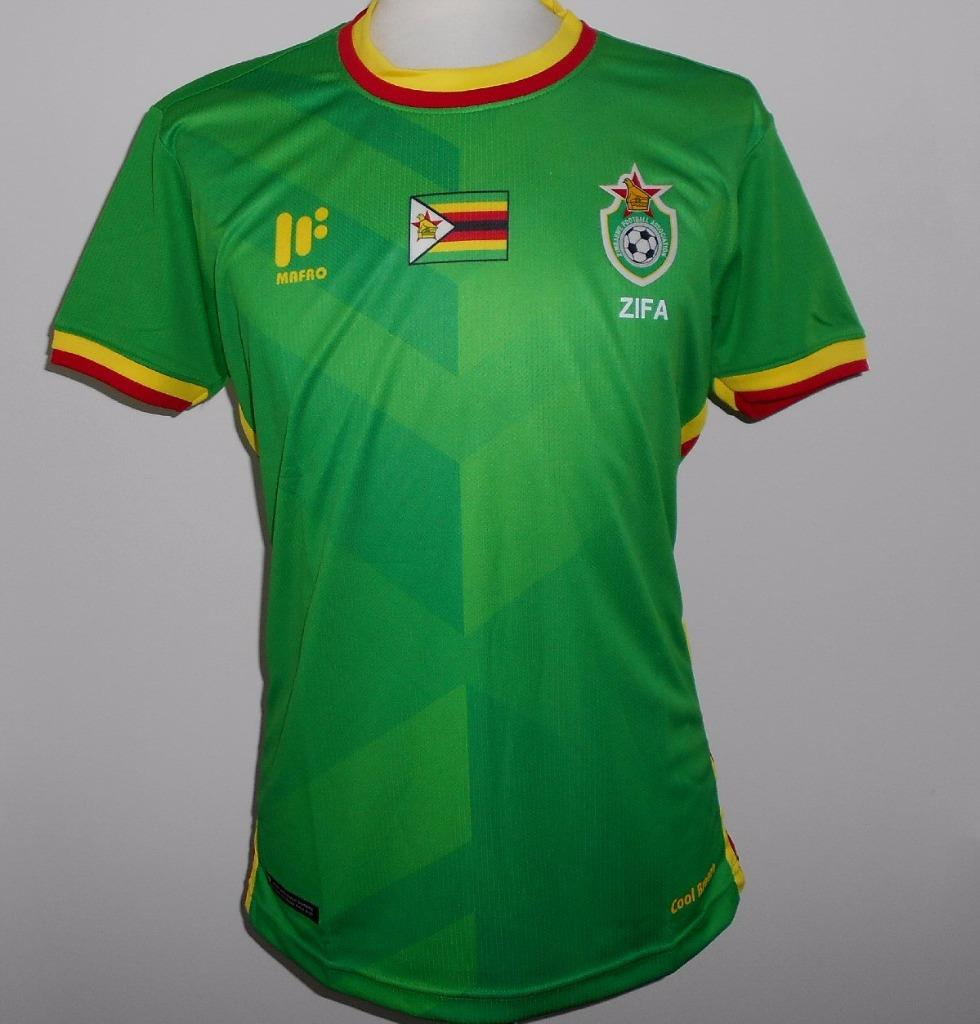 9387d5bc579 Details about ZIMBABWE Official Mafro Away Football Shirt 2017-2018 NEW  XL(Slim) Soccer Jersey