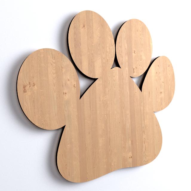 30x hundepfote tiere form holz basteln bemalen dekoration y8. Black Bedroom Furniture Sets. Home Design Ideas