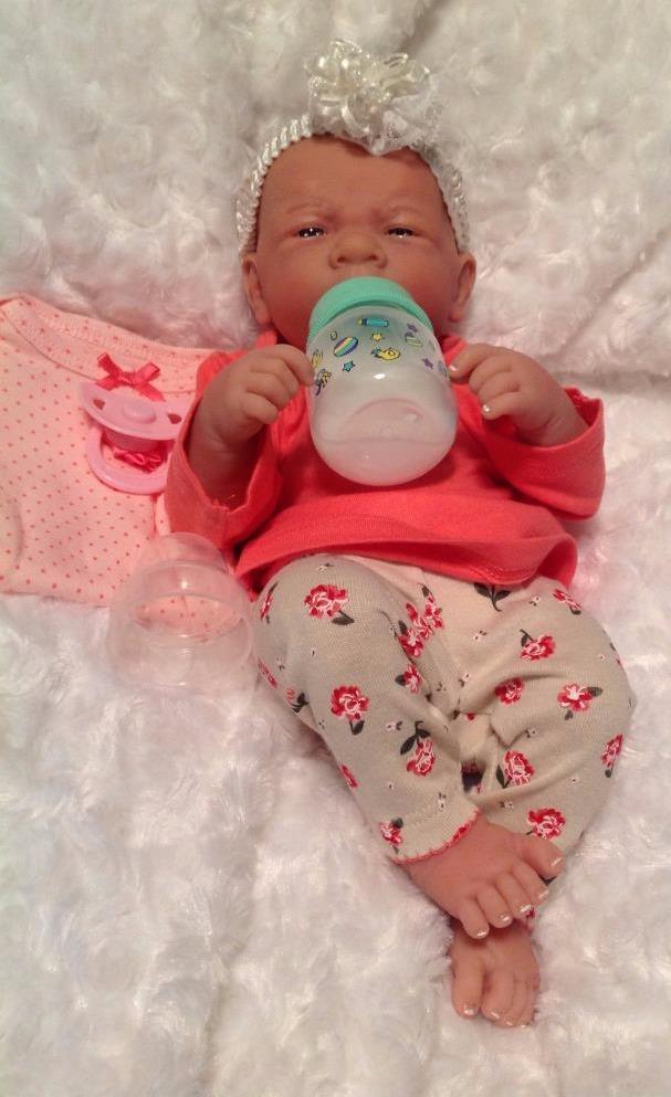 Flower Power Reborn Baby Girl Berenguer Doll W Magnetic
