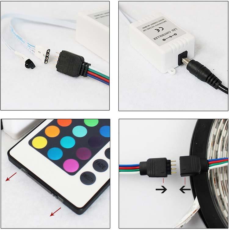 1m 30m led 5050 smd rgb leiste streifen band lichtband fernbedienung netzteil ebay. Black Bedroom Furniture Sets. Home Design Ideas