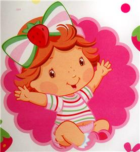 New Baby Strawberry Shortcake Gift Wrap Wrapping Paper 16 Sheets