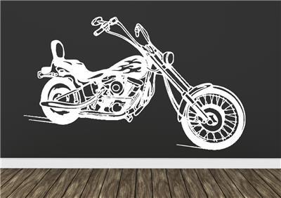 Chopper Motorbike Wall Art Sticker Decal Self Adhesive Vinyl Transfer