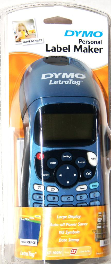 dymo letratag personal label maker lt 100h black new ebay. Black Bedroom Furniture Sets. Home Design Ideas