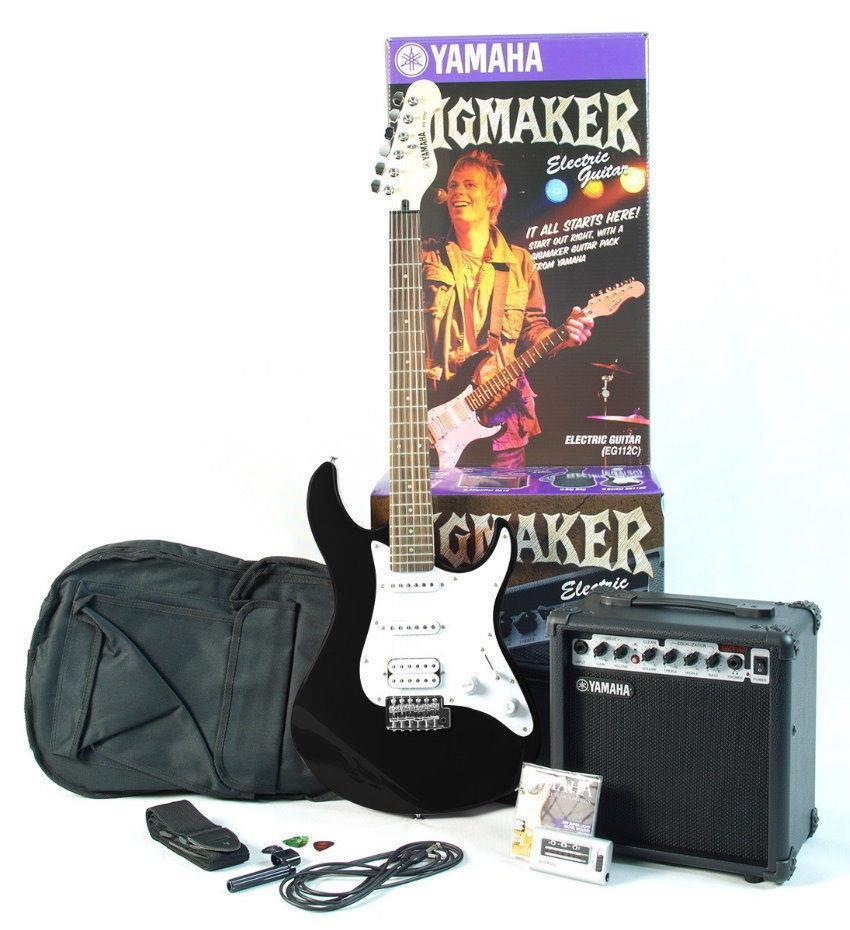 yamaha gigmaker electric guitar amplifier pack eg112gpii black1 ebay. Black Bedroom Furniture Sets. Home Design Ideas