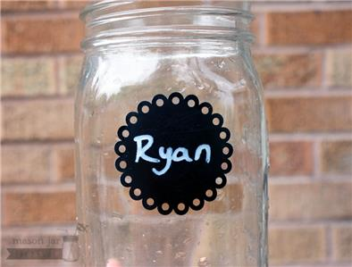 Round Eyelet Vinyl Chalkboard Labels For Mason Jars With