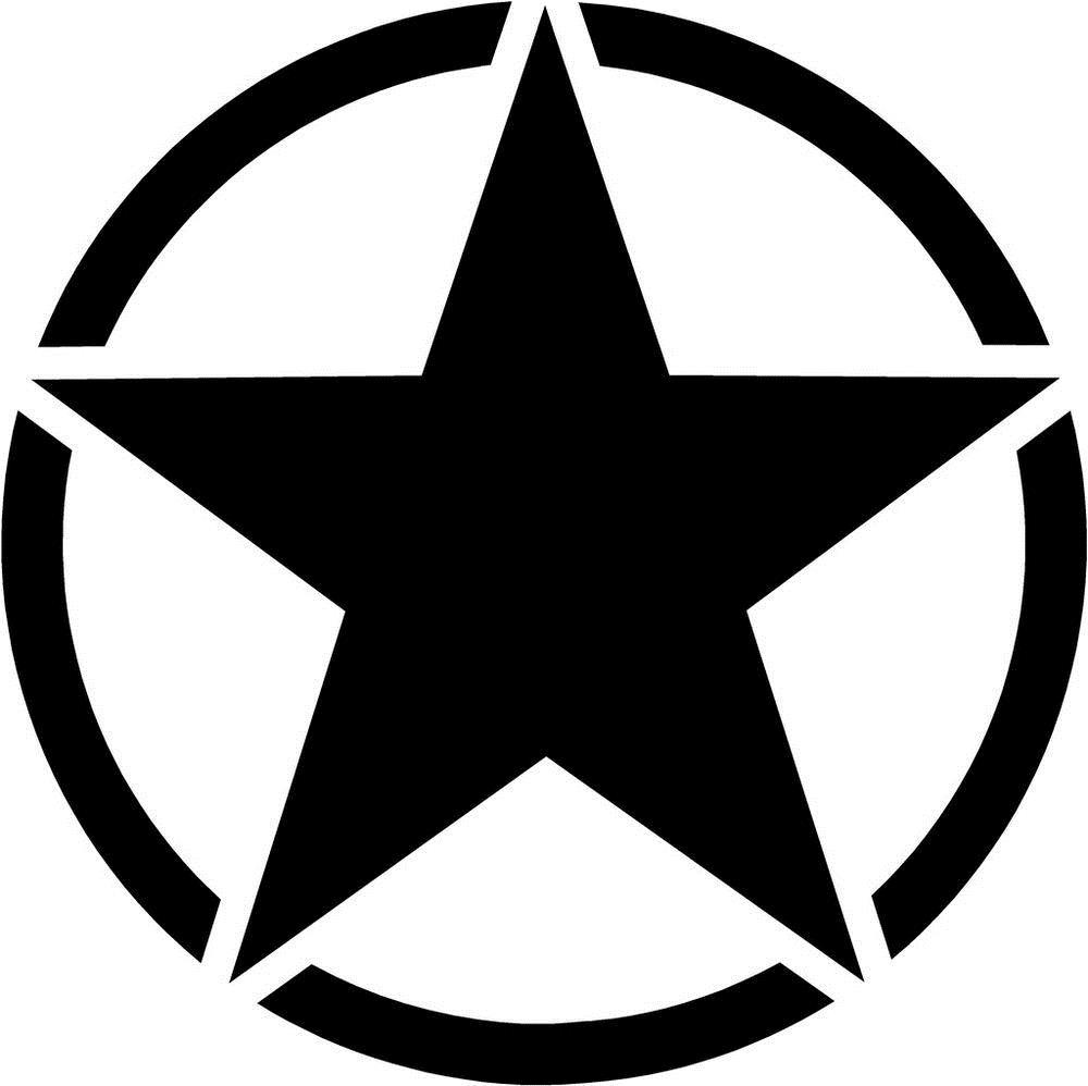 Army Star Vinyl Decal Sticker USA Military Jeep Willys CJ ...