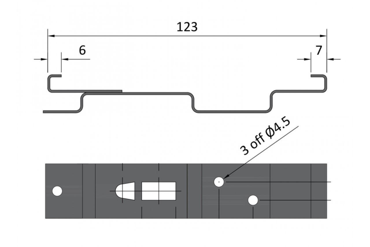 X2 Resorte cargado número de placa de acero rectangular Pinzas titulares de remolque MP341