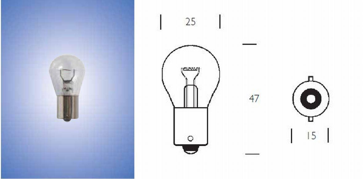 REPLACEMENT NEOLUX OSRAM 12 VOLT 21 WATT P21W BA15s N382 AUTO LIGHT BULBS X 10