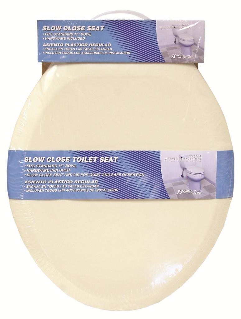 Aqua Plumb Csc90w Round Plastic Slow Close Toilet Seat