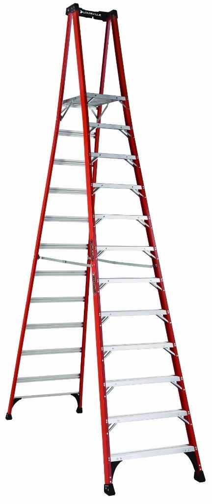 Louisville Ladder Fxp1812hd 12 Ft Fiberglass Platform Step Ladder