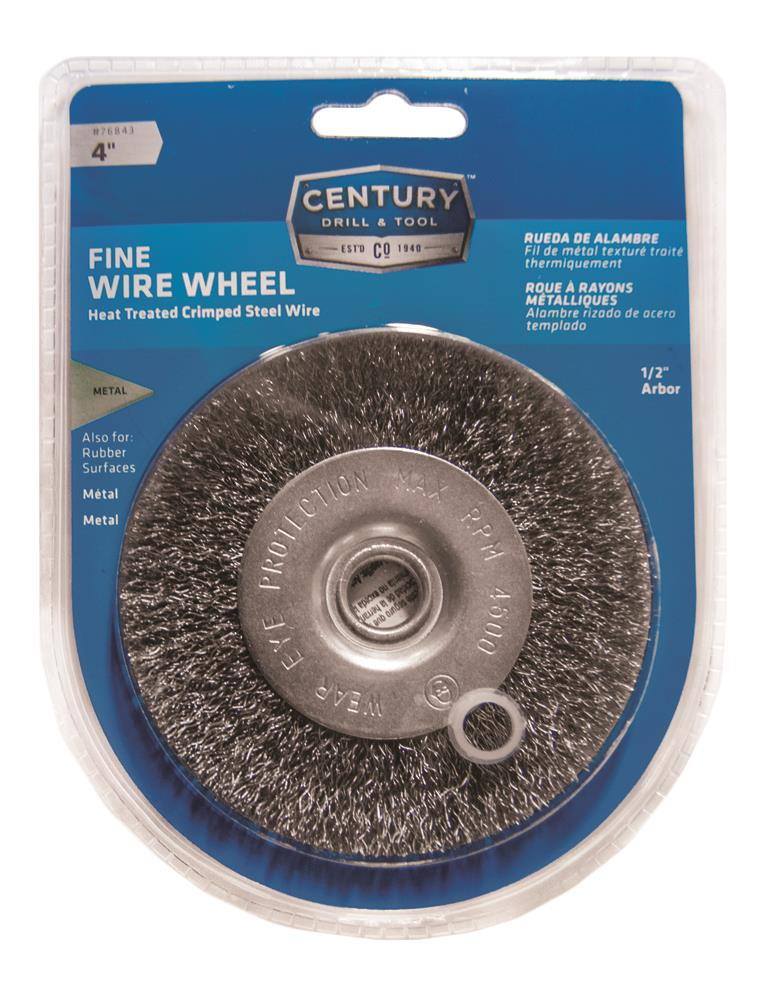 Century Drill And Tool 4 Quot Fine Bench Grinder Wire Wheel
