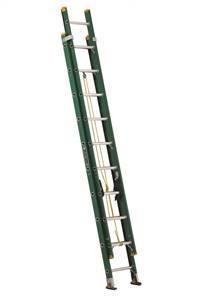 Louisville Ladder 20 Foot Fiberglass Industrial Extension Ladder FE0620