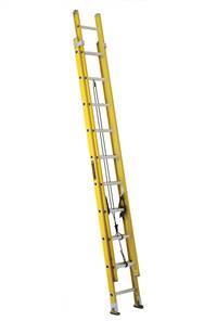 Louisville Ladder 20 Foot Fiberglass Industrial Extension Ladder FE1720