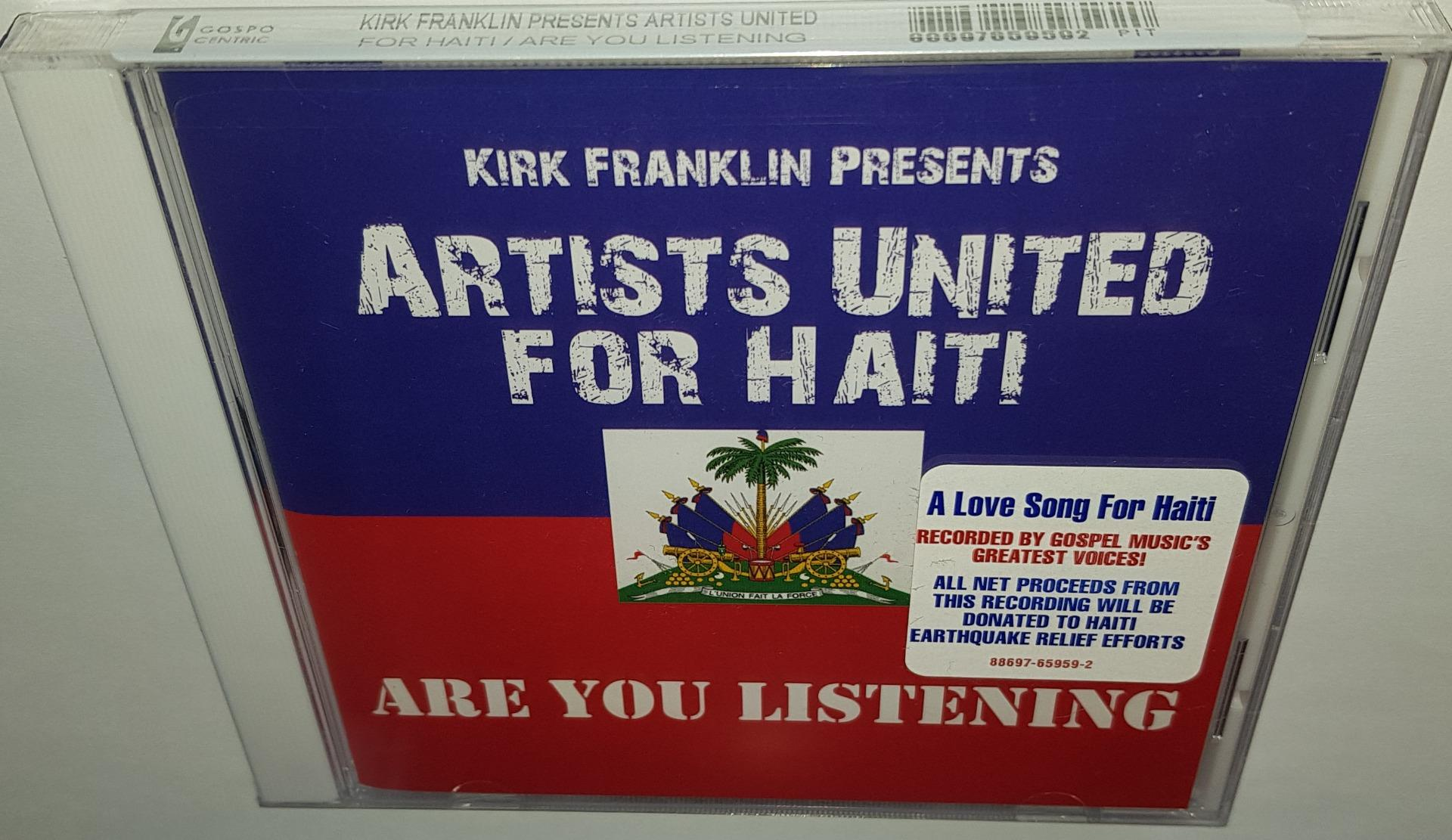 Details about KIRK FRANKLIN PRESENTS ARTISTS UNITED FOR HAITI ARE YOU  LISTENING NEW SEALED CD