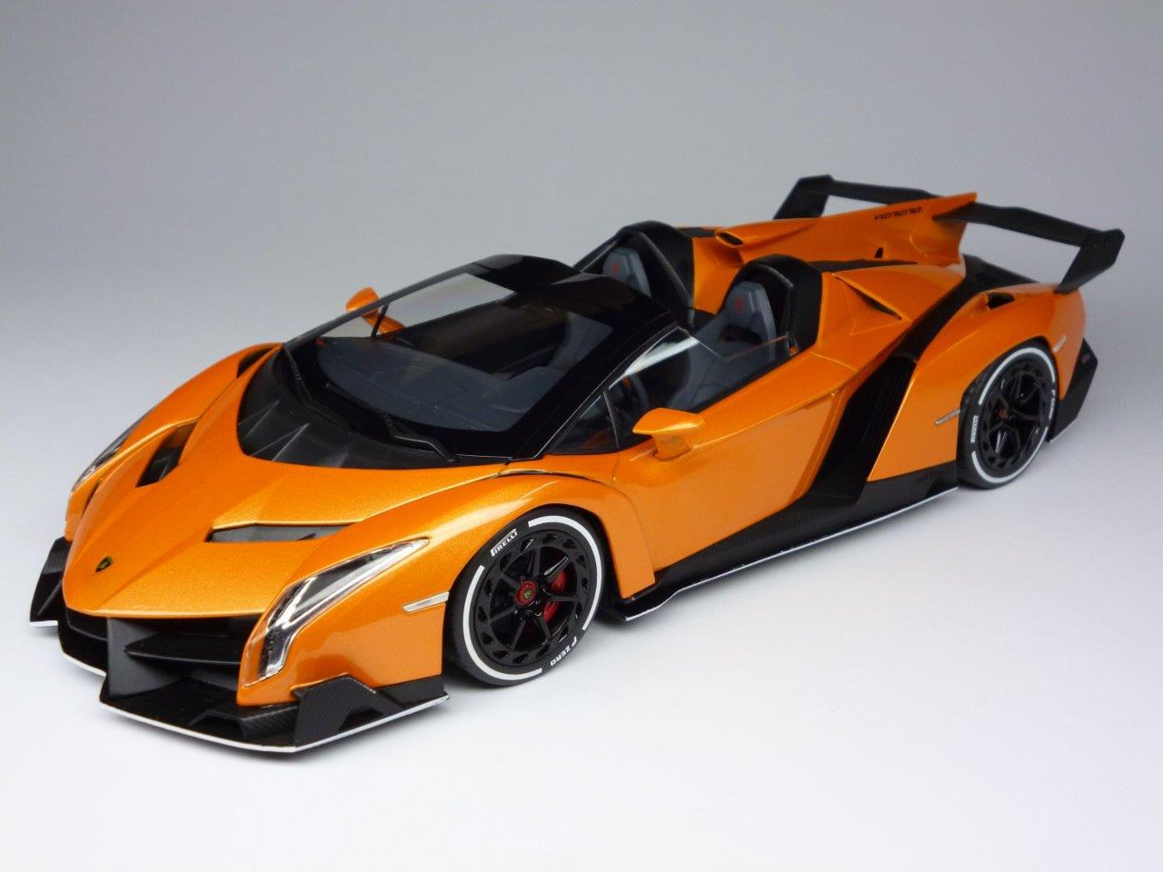 kyosho 1 18 lamborghini veneno roadster orange. Black Bedroom Furniture Sets. Home Design Ideas
