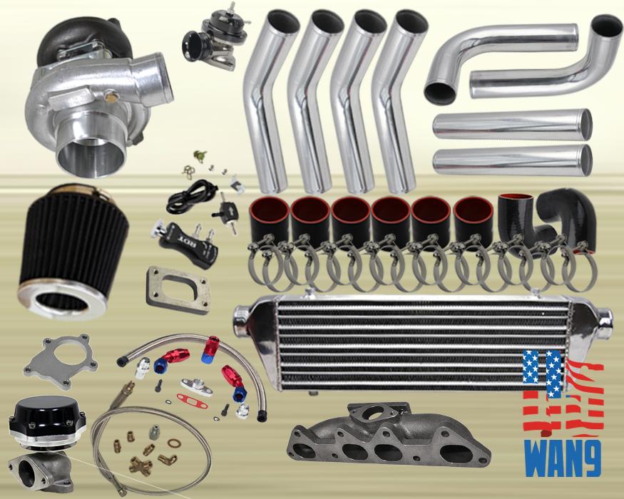 Details about 94-02 Honda Accord /CL F22 F23A T3/T4 8PC TURBOCHARGER TURBO  KIT MANIFOLD FMIC K