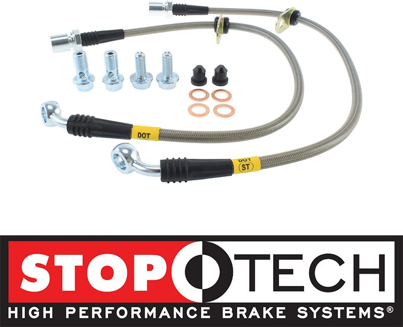 STOPTECH STAINLESS STEEL FRONT BRAKE LINES FOR 93-98 TOYOTA SUPRA MK4 2JZ
