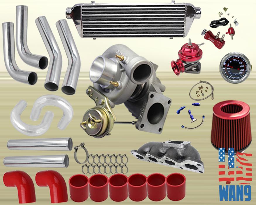 Details about Mazda Miata Mx-5 1 6L T3/T4 Turbocharger Turbo Kit  Red+Manifold+Bov+Wg+Gauge
