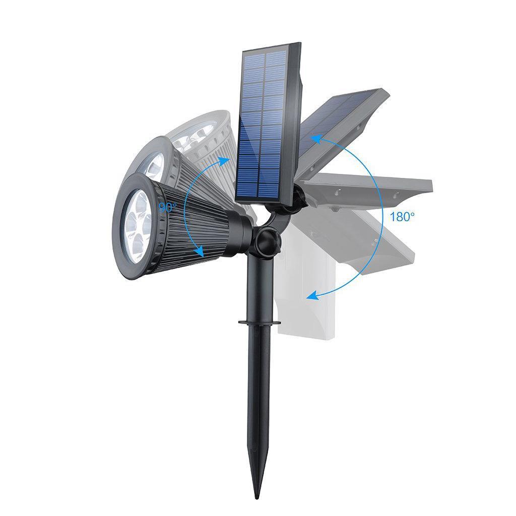 4 led solar power garden lamp spot light outdoor lawn landscape path spotlight ebay. Black Bedroom Furniture Sets. Home Design Ideas