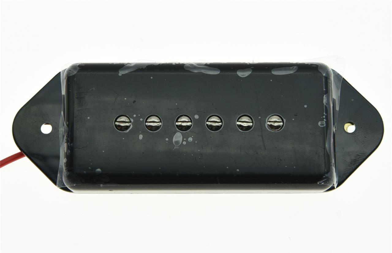 Black P90 High Power Sound Dogear Type Neck Pickup Soapbar