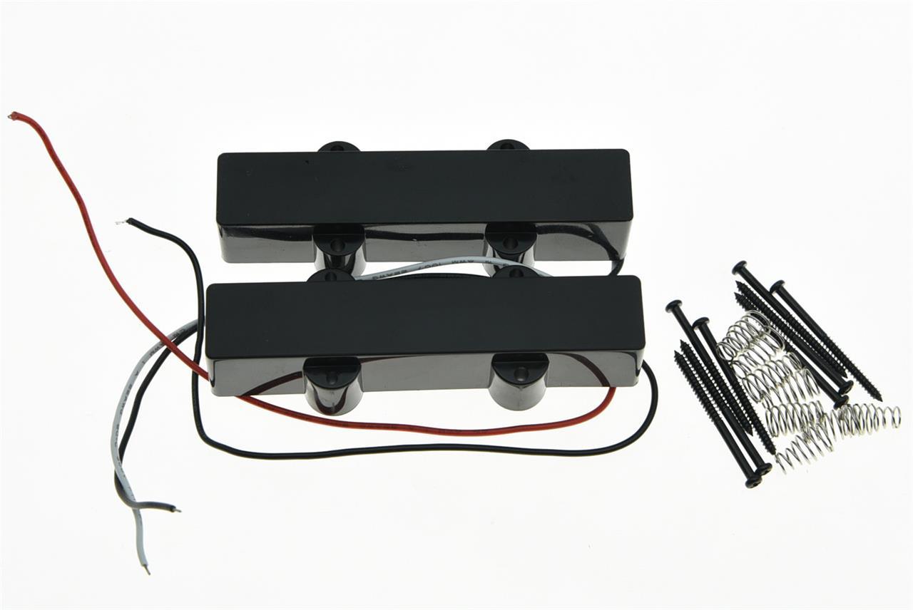 black closed j bass neck bridge pickup bass pickups set for 4 string jazz bass ebay. Black Bedroom Furniture Sets. Home Design Ideas