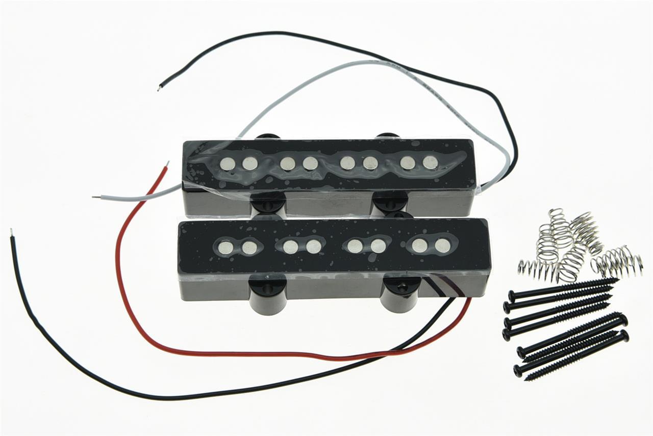 black j bass neck bridge pickup bass pickups set for 4 string jazz bass guitar ebay. Black Bedroom Furniture Sets. Home Design Ideas