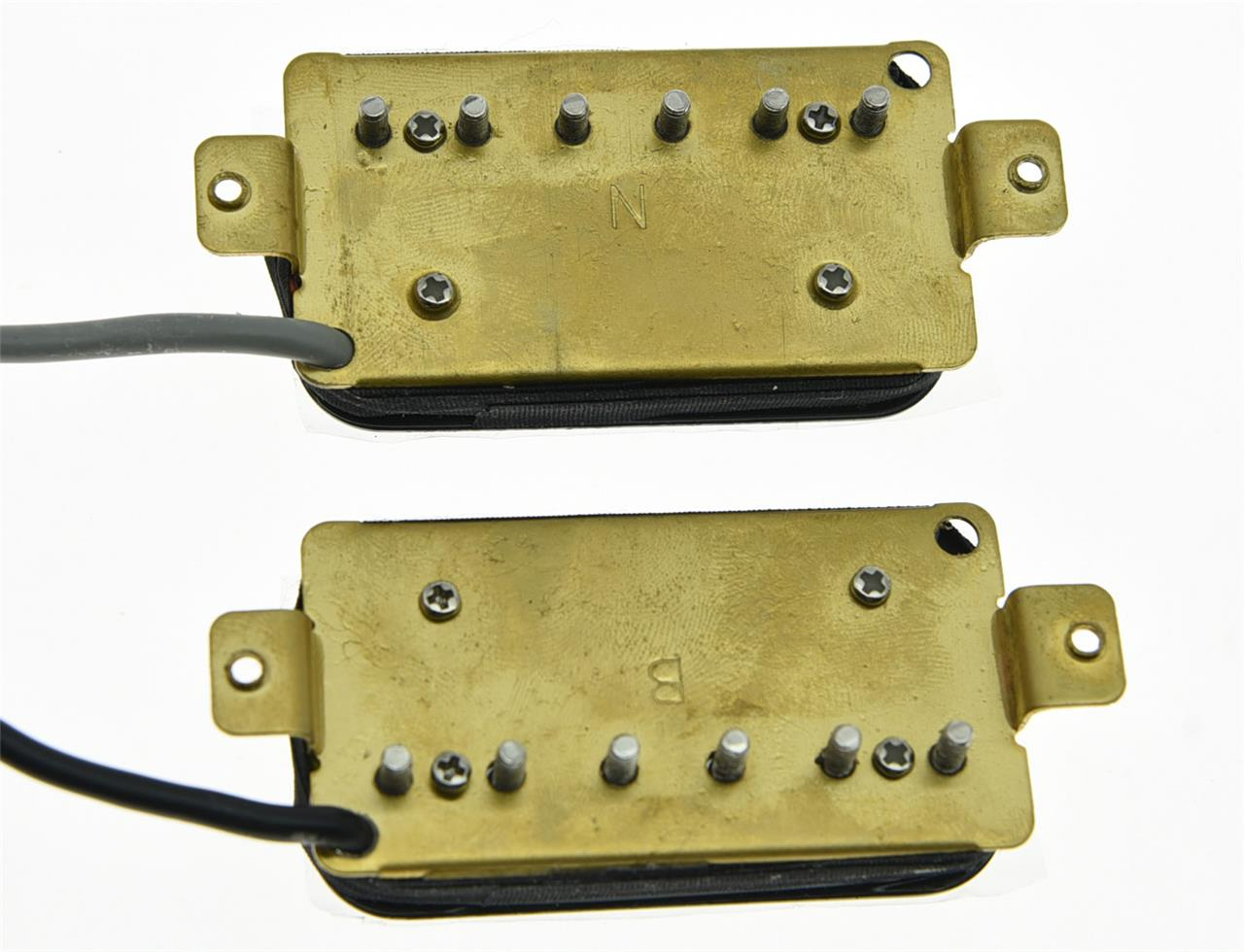 set of 2 black alnico v guitar humbucker neck bridge pickup power sound pickups ebay. Black Bedroom Furniture Sets. Home Design Ideas